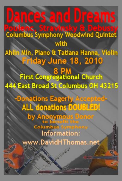 Dances and Dreams, Benefit Concert for Columbus Symphony