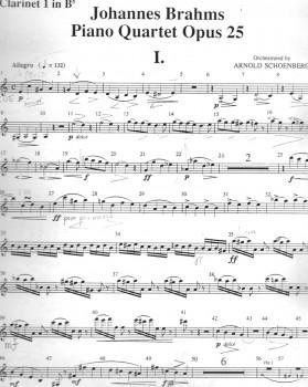 Brahms Schoenberg Clarinet 1