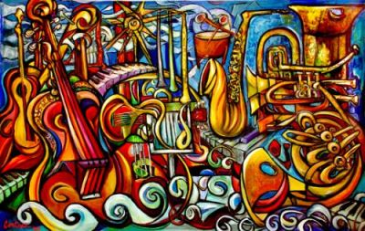 What is the meaning of music especially classical music for Define mural painting