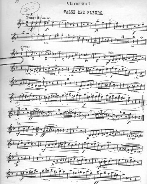 Tchaikovsky Nutcracker clarinet excerpt 6